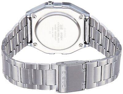CASIO A158W-1 Unisex Classic Silver Digital A158 Sport Watch WR 30M NEW 2