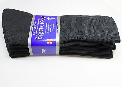 3,6 or 12 dozen Pairs Diabetic Crew Circulatory Socks Health Mens Cotton 9 10-15 6