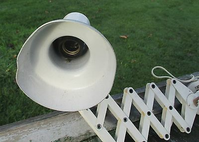 Vintage Industrial Machine Age Scissor Wall Lamp Expanding Mounted Adjustable 5