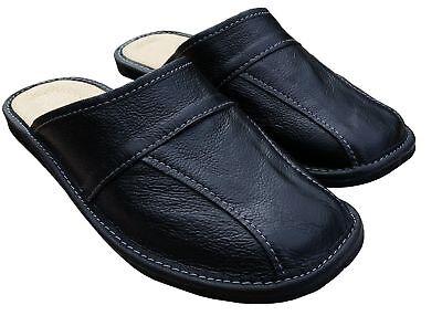 Cuir pour Hommes Chaussures Pantoufles, Sandales, Mules à Enfiler, Noir - Taille 3