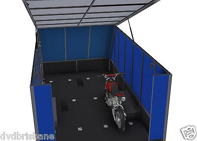 Trailer Plans - 4m ENCLOSED MOTORBIKE TRAILER - PLANS ON CD-ROM 9