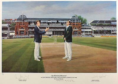 Atherton Wessels SIGNED PRINT England v South Africa SIZE:46cm x 64cm NEW RARE 2