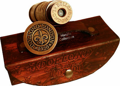 Antique Brass Telescope Marine Nautical Leather Pirate Spyglass Vintage Scope 7