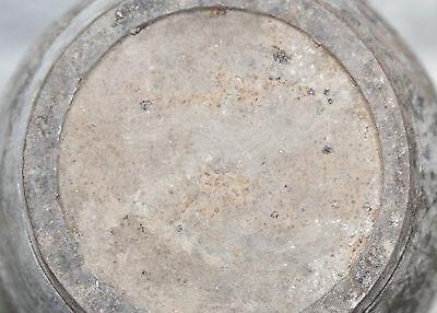 Chinese Song 11th-12th Cen Dk Brn Hares' Fur Glaze Large Barrel Form Handled Jar 7