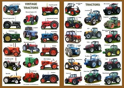 POSTERS A4 size...CATTLE, SHEEP, PIGS, POULTRY, DUCKS, TRACTORS, HORSES, GOATS, 3
