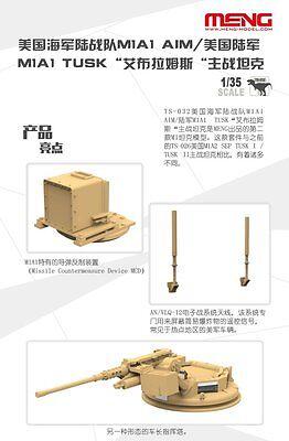 d2522888f954 MENG MODEL TS-032 1 35 U.S. M1A1 AIM   M1A1 TUSK Abrams Main Battle ...