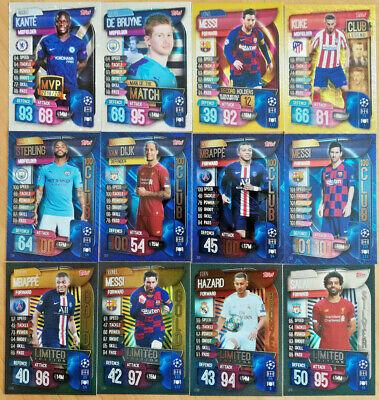 MATCH ATTAX Champions 19/20 2019/20 251-331 Limited Edition 100 club MVP MOTM 2