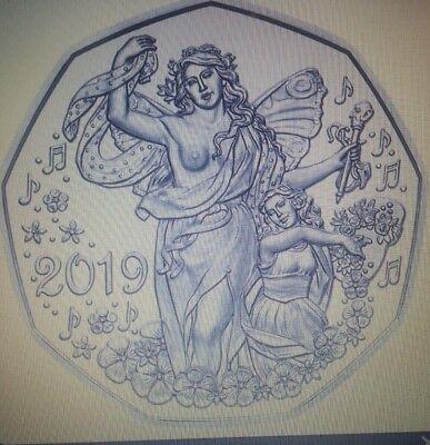Österreich Austria 5 Euro Silber HGH 2019 Lebensfreude    Eiamaya