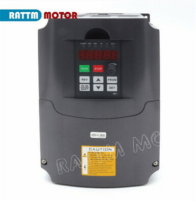 〖FRA〗4KW 220V VFD Inverter Variable Frequency Drive speed control 5HP 18A+Cables 4
