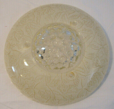 VINTAGE 1930/40'S 3-Hole CHAIN CEILING LIGHT FROSTED EMBOSSED SHADE 2