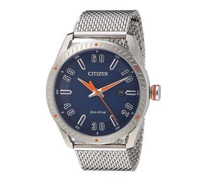 Citizen Eco-Drive CTO Men's Blue Dial Mesh Bracelet 42mm Watch BM6990-55L 2