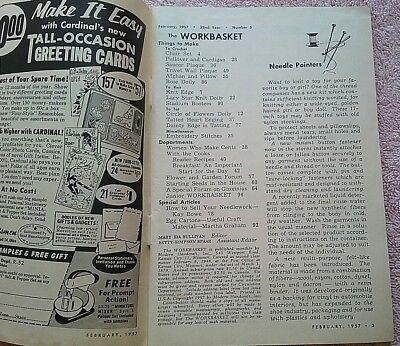 Vintage Workbasket Magazine Feb 1957 Needlecraft Knit Crochet Vintage Ads 3