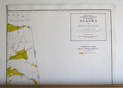 Alaska's Mineral Potential 1978 Oil Gas Geothermal Uranium Metals Coal 8 Maps 8