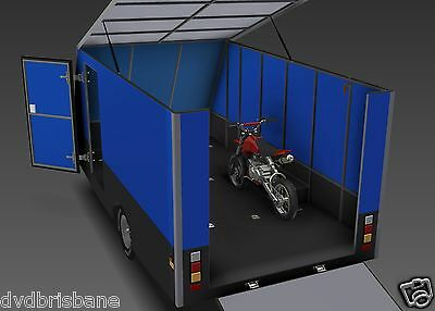 Trailer Plans - 4m ENCLOSED MOTORBIKE TRAILER - PLANS ON CD-ROM 2