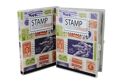 Stamp Collection Kit/Album, w/ 10 Pages, Holds 150-300 Stamps (No Stamps) 7