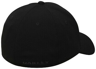 Oakley Men's Tincan Cap Baseball Hat Stretch Fit Black Graphic Camo S/M  L/XL 2