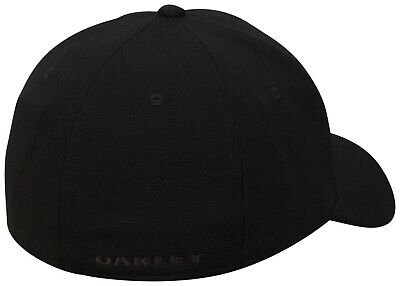 Oakley Men's Tincan Cap Baseball Hat Stretch Fit Black Graphic Camo S/M  L/XL 10