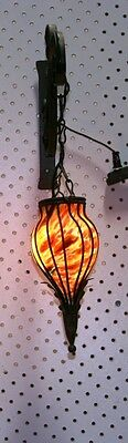Modern Art Deco Glass Sconce Incorporated In  Metal Setting Multi-Color Europe 2