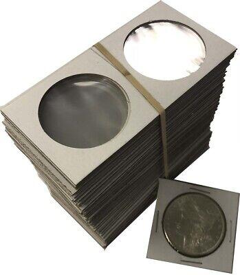 Large Dollar Size 2x2 Coin Cardboard Mylar Flips Holder Bundle of 100 Cowen's US 2