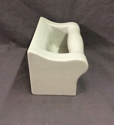Vtg Ceramic White Porcelain Soap Dish Grab Bar Wall Mount Old Fixture 21-19D 5