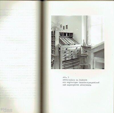 Hansmann Arbeitsweise der Zeilensetz  & Gießmaschine Setzmaschine Druckerei 1968 3