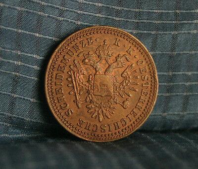 Austria 1 Kreuzer 1851 A Copper World Coin KM2185 Imperial Double Eagle Crown
