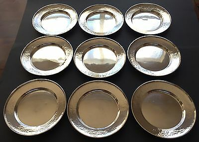 Set of 9 G. H. French & Co. Sterling Silver Bread Plates (1920s), No Monogram 4