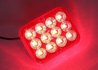 LED Nebelschlussleuchte 12V  Nebelschlusslicht 12 LED SUPER HELL 100x80x25 mm