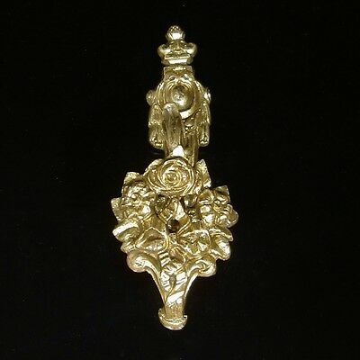 Antique French Gilded BronzeSmall Ornament HookTieback, Neoclassic, Stamped