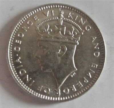 un104 1939 Commissioners of Currency Malaya 10 Cents Silver Coin UNC 2