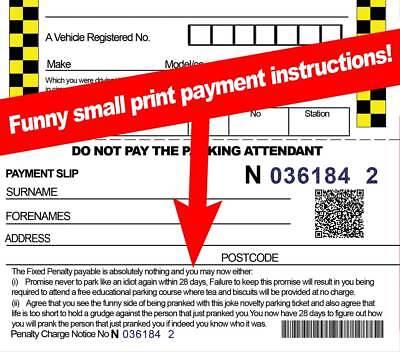 WARNING - Very Realistic Fake joke Parking Tickets Prank  OFFICIAL LOOK & FEEL - 3