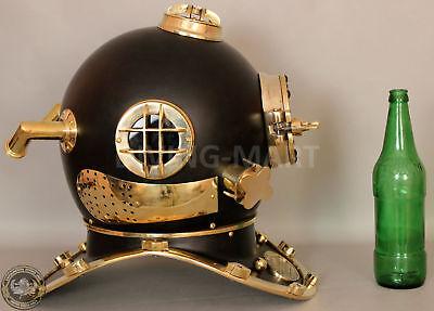US Navy Mark V Nautical Marine Antique Brass Powder Coating Divers Diving Helmet 7