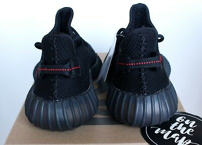 ADIDAS YEEZY BOOST 350 V2 Black Red Bred CP9652 UK 5 6 7 8 9
