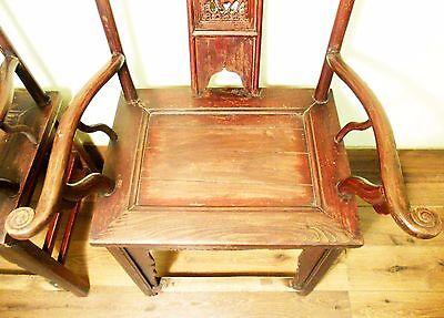 Antique Chinese High Back Chairs (Pair) (5742), Circa 1800-1849 8
