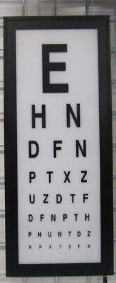 Eye Test Chart Wall light box mounted medical opticians Display Games Room Decor 3
