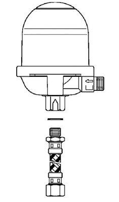Oventrop Heiz/ölentl/üfter Toc-Uno-A 1//4 IG x 3//8 AG Schlauchleitung inkl