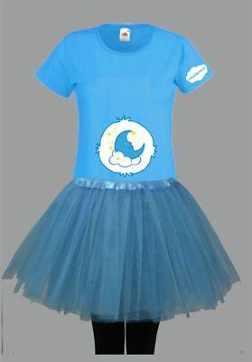 Kostüm für Glücksbärchi Fans Damen T-Shirt Tütü/Rock Gruppenkostüm Karneval JGA 4