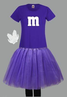 M&M Kostüm MM Fans Tüllrock Damen T-Shirt Tutu Tütü Fasching Gruppenkostüm 6