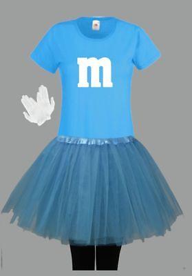M&M Kostüm MM Fans Tüllrock Damen T-Shirt Tutu Tütü Fasching Gruppenkostüm 11