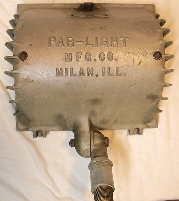 Vintage Par-Light Mfg. Co Cast Aluminum Halogen Flood Light Milan ILL. Steampunk 2 • CAD $50.39
