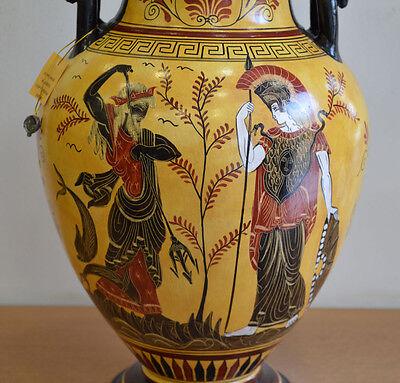 Achilles - Poseidon & Goddess Athena - Amphora Vase - Museum Replica 4
