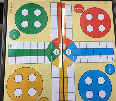 Snakes & Ladders OR Ludo Traditional Family Board Game Kids Adults Toy 18/18cm.