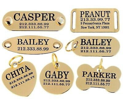 Pet ID Name Personalised Dog Tag Custom Engraved Cat Tags Stainless Steel S M L 3