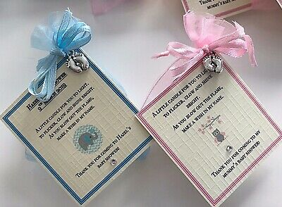 *Baby Shower Favour Candle* 10 pack Gift Cute Baby Girl Pink Elephant Owl 12