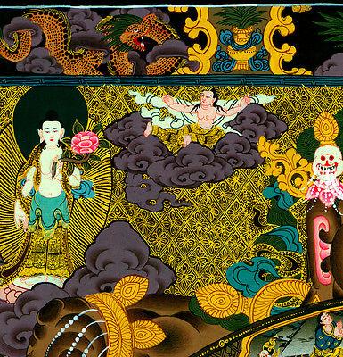 Cosmic Fire 22x30 Tibetan Mandala Print Buddha Asian art