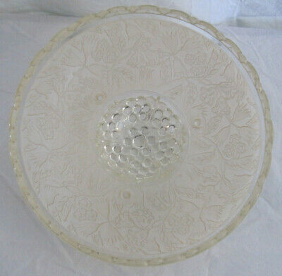 VINTAGE 1930/40'S 3-Hole CHAIN CEILING LIGHT FROSTED EMBOSSED SHADE 4