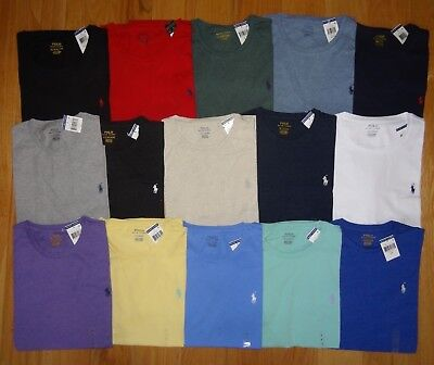 Polo Ralph Lauren Mens T Shirt  Brand New With Tag CREWNECK  Tee S M L XL XXL 2