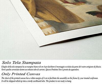 🌹Quadro Raffaello Madonna Sistina Stampa Fine Art su Tela Vernice Pennellate 🎨 2
