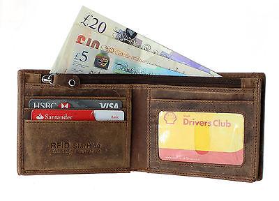95d86c1f88e9 STARHIDE MENS RFID BLOCKING Distressed Brown Genuine Leather Bifold Wallet  #1150