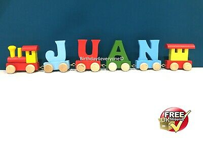Personalized Letter Name wooden Train Birthday New Year Christmas Gift Toy 10